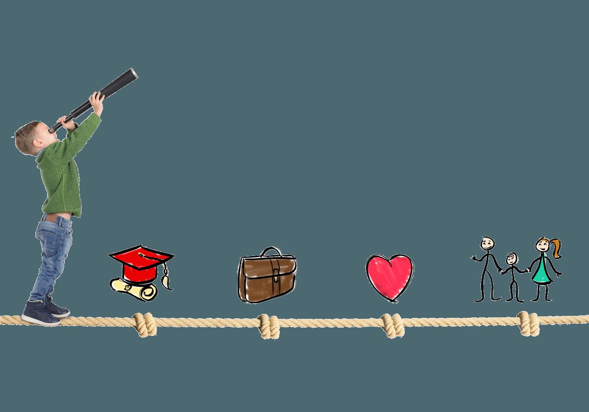 Enfant en équilibre